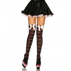 BEAUTYS LOVE Stockings mit Knochen-Muster (black / pink)
