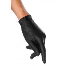 VARIOUS Satin-Handschuhe kurz (black)