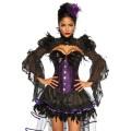 VARIOUS Hexen-Corsage (purple / black)