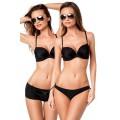 VARIOUS Push-Up-Bikini-Set (black)
