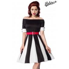 BELSIRA Godet-Kleid (black White Red)