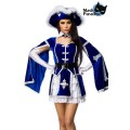 MASK PARADISE Musketeer-Kostüm (blue White)