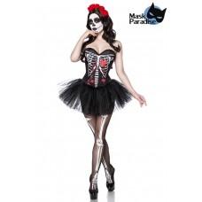 MASK PARADISE Day of the Dead Kostüm: Skull Senorita (black White Red)