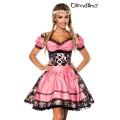 DIRNDLINE Premium Dirndl mit Bluse (black / pink)