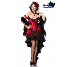 MASK PARADISE Burlesque Saloon Girl (black red)