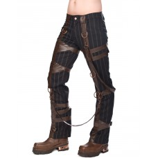 Aderlass Chase Steam Punk Pants (Black Brown)
