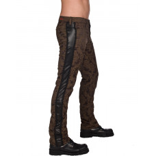 Aderlass Victorian Steampunk Pants Brocade (brown)