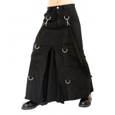 Aderlass Chain Skirt Denim (black)
