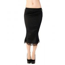 Aderlass Pretty Skirt Pin Stripe (Black-and-white)
