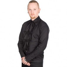 Aderlass Volant Shirt Fine Denim (black)
