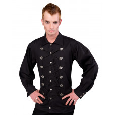 Aderlass Cremate Shirt Fine Denim (black)