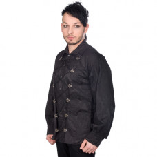 Aderlass Cremate Shirt Brocade (black)
