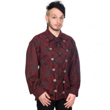Aderlass Cremate Shirt Brocade (Bordeaux)