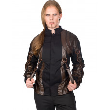 Aderlass Dim Steam Punk Cardy (Black Brown)
