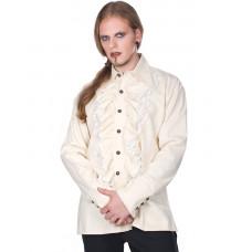 Aderlass Riffle Victorian Steam Punk Shirt (Cream)