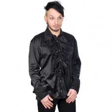 Aderlass Riffle Victorian Shirt Satin (black)
