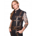 Aderlass Chase Steampunk Vest (Black Brown)