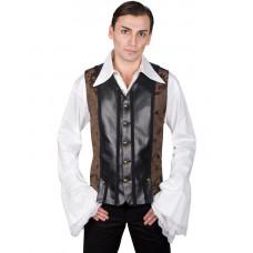 Aderlass Victorian Steampunk Vest (brown)