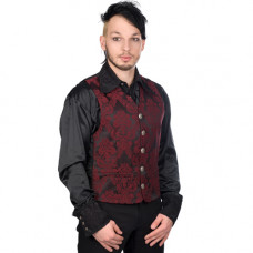 Aderlass Dark Vest Brocade (Bordeaux)