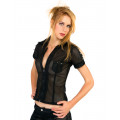 Aderlass Prick Blouse Heavy Net (black)