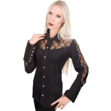 Aderlass Lady Blouse Fine Denim (black)