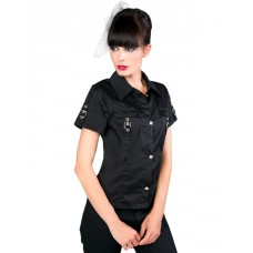 Aderlass Lock Blouse Denim (black)