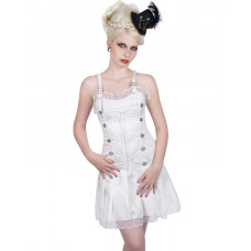 Aderlass String Mini Dress Brocade (White)