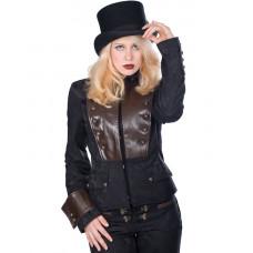 Aderlass Corsair Ladys Steam Punk Jacket (Black Brown)