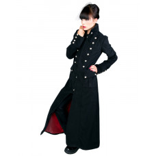 Aderlass Ladys Corsair Long Coat Wool (black)