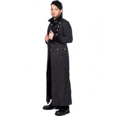 Aderlass Admiral Long Coat Brocade (black)