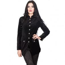 Aderlass Ladys Army Coat Velvet (black)