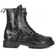 Aderlass 8-Eye Boots Leather Snake (black)