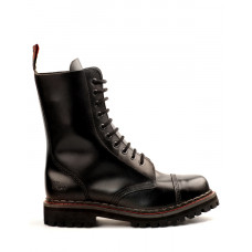 Aderlass 10-Eye Steel Boots Leather (black)