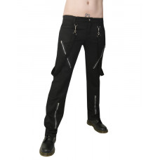 Black Pistol Punk Pants Denim (black)