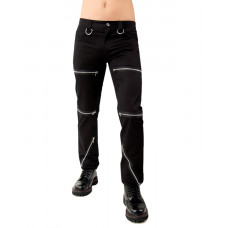 Black Pistol Destroy Pants Denim (black)