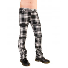 Black Pistol Destroy Pants Tartan (Black-and-white)