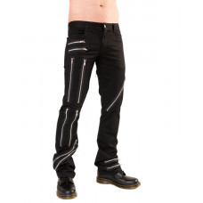 Black Pistol Zipper Pants Denim (black)