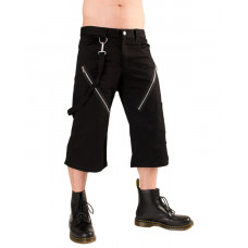 Black Pistol Zip Short Pants Denim (black)