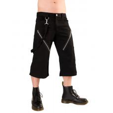Black Pistol Zip Short Pants Denim (black)