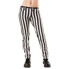 Black Pistol Close Pants Stripe (Black-and-white)