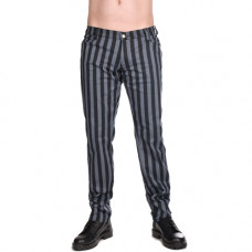 Black Pistol Close Pants Stripe Denim (Europass-Gray)