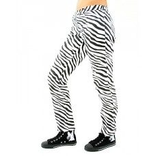 Black Pistol Close Pants Zebra (Black-and-white)