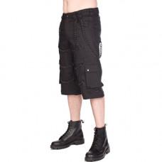Black Pistol Chain Short Pants Denim (black)