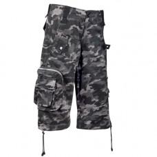 Black Pistol Short Pants Camouflage (Europass-Gray)