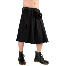 Black Pistol Short Kilt Denim (black)