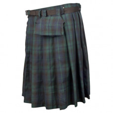Black Pistol Short Kilt Tartan (Green-Blue)
