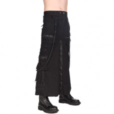 Black Pistol Chain Skirt Denim (black)