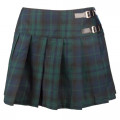 Black Pistol Buckle Mini Tartan (Green-Blue)