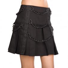Black Pistol Chain Mini Denim (black)