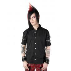 Black Pistol Strap Shirt Denim (black)